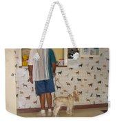 Dog Owner Dog Vet's Office Casa Grande Arizona 2004 Weekender Tote Bag by David Lee Guss
