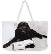 Dog Reading James Thurber Weekender Tote Bag