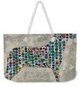 Dog Silhouette Digital Art Weekender Tote Bag