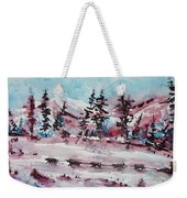 Dog Sled Weekender Tote Bag