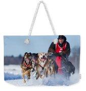 Dog Sledding Race Weekender Tote Bag