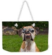 Dog Wearing Sunglass Weekender Tote Bag