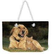 Dog With Kitten Weekender Tote Bag
