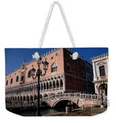 Doges Palace With Bridge Of Sighs Weekender Tote Bag