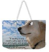 Doggie Soul Weekender Tote Bag