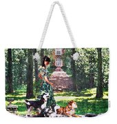 Dogs Lay At Her Feet Weekender Tote Bag