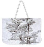 Dogwood In Snow Weekender Tote Bag