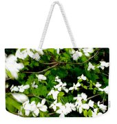 Dogwood In The Wind Weekender Tote Bag