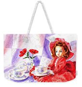 Doll At The Tea Party  Weekender Tote Bag