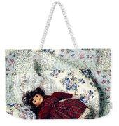 Doll On Bed Weekender Tote Bag by Joana Kruse
