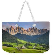 Dolomites From Val Di Funes Weekender Tote Bag