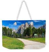 Dolomiti - Gardecia With Catinaccio Mount Weekender Tote Bag