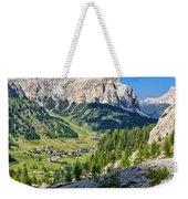 Dolomiti - High Badia Valley Weekender Tote Bag
