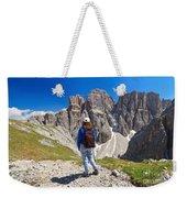 Dolomiti - Hiker In Sella Mount Weekender Tote Bag