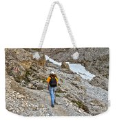 Dolomiti - Hiker In Val Setus Weekender Tote Bag