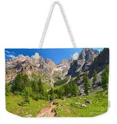 Dolomiti -landscape In Contrin Valley Weekender Tote Bag
