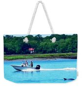 Dolphin At Pigeon Point Weekender Tote Bag