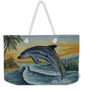 Dolphin Jumping Weekender Tote Bag