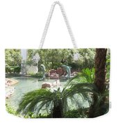 Dolphin Pond And Garden Green Weekender Tote Bag