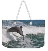 Dolphin Riding The Waves Weekender Tote Bag