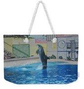 Dolphin Walking On Water Digital Art Weekender Tote Bag