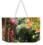 Dolphinfountain And Flowers - France Weekender Tote Bag