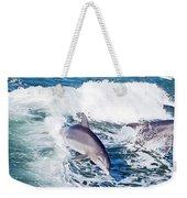 Dolphins Jumping Weekender Tote Bag