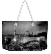 Dome Of The Rock -- Black And White Weekender Tote Bag