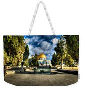 Dome Of The Rock Hdr Weekender Tote Bag by David Morefield