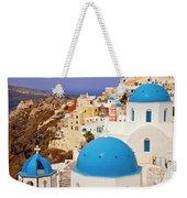 Domes Of Santorini Weekender Tote Bag