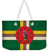 Dominica Flag Vintage Distressed Finish Weekender Tote Bag