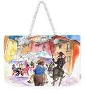 Don Quijote And Sancho Panza Entering Toledo Weekender Tote Bag
