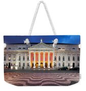 Dona Maria II National Theater At Night In Lisbon Weekender Tote Bag