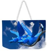 Donna's 1st Blue Bird Flight Weekender Tote Bag