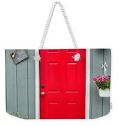 Donna's Red Friendship Door Weekender Tote Bag
