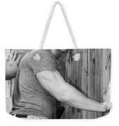 Dont Fence Me In Bw Weekender Tote Bag by William Dey