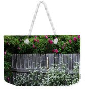 Don't Fence Me In - Wild Roses - Old Fence Weekender Tote Bag