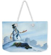 Dont Fuck With Frosty For He Can Really Ruin That Holiday Spirit Weekender Tote Bag