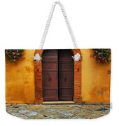 Door And Flowers In A Tuscan Courtyard Weekender Tote Bag