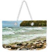 Door County Porcupine Bay Waves Weekender Tote Bag