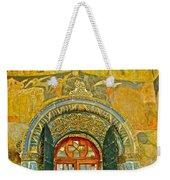 Doorway Entry To Cathedral Of The Archangel Inside Kremlin Walls In Moscow-russia Weekender Tote Bag