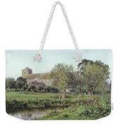 Dorchester Abbey, Near Wallingford, Autumn Evening Weekender Tote Bag