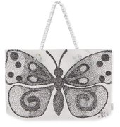Dotted Butterfly Weekender Tote Bag