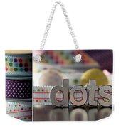 Dotty Diptych Weekender Tote Bag