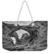 Double Arches Bw Weekender Tote Bag