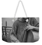 Double Bass Player Weekender Tote Bag by David Morefield