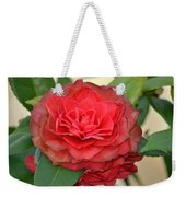 Double Blossom Camelias Weekender Tote Bag