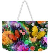 Double Dahlia Flower Party Weekender Tote Bag