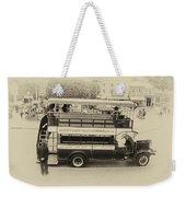 Double Decker Bus Main Street Disneyland Heirloom Weekender Tote Bag