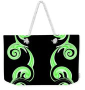 Double Green Swirl Weekender Tote Bag
